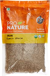 Pro Nature 100% Organic Cumin, Whole, 250g