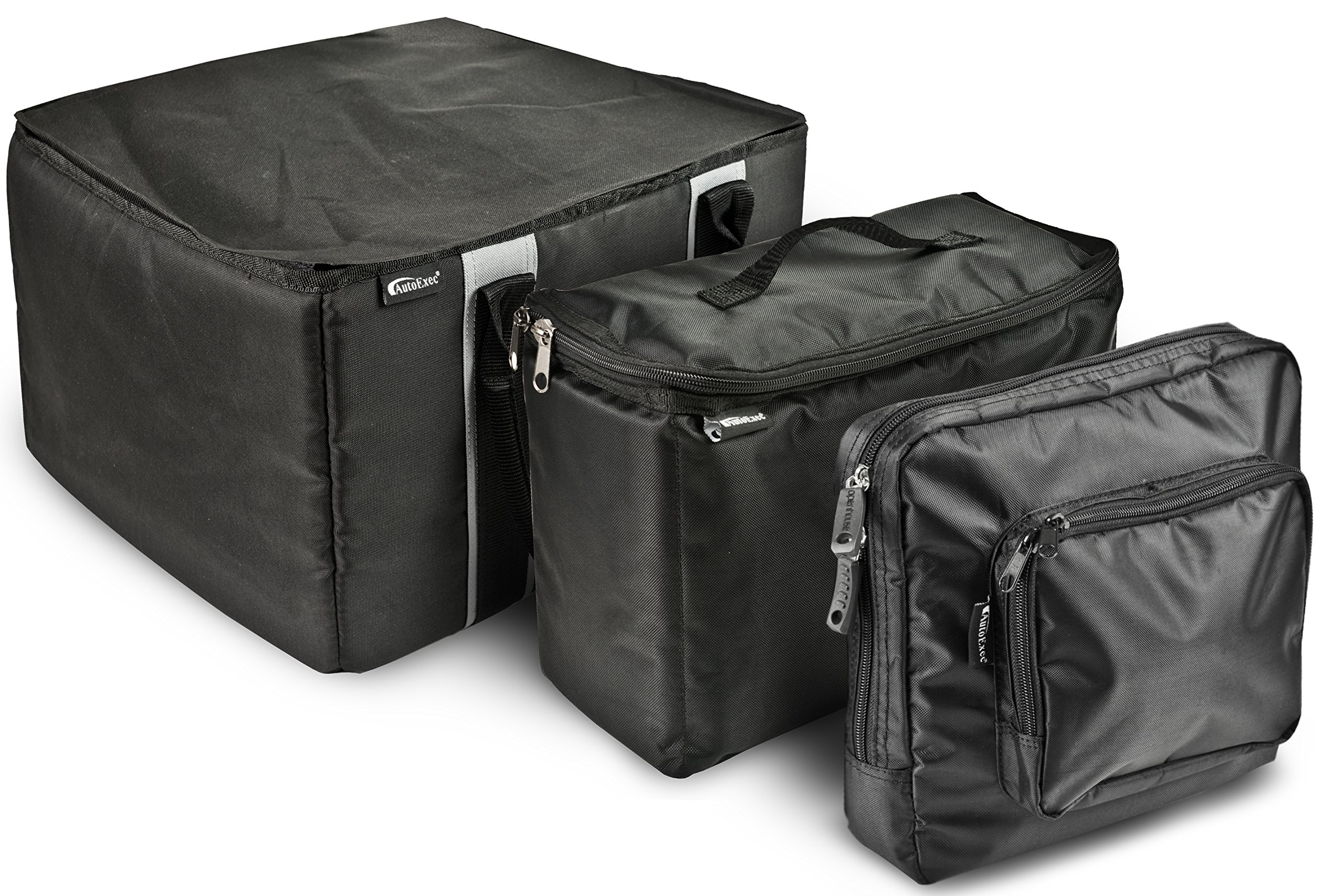AutoExec AETote-09 Black/Grey File Tote with One Cooler and One Tablet Case