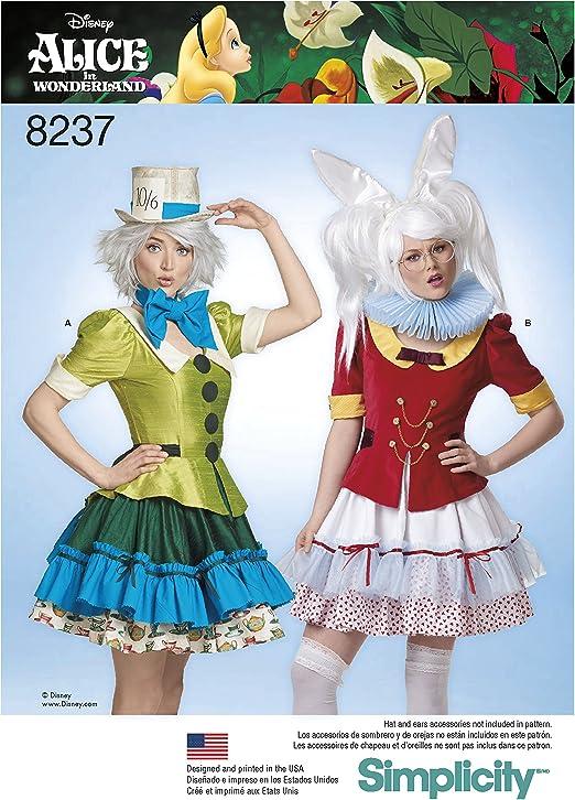 Simplicity Disfraz de Misses Alice in Wonderland, Patrón 8237 ...