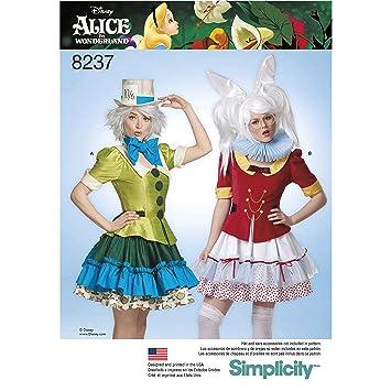 Simplicity Schnittmuster 8237 für Alice im Wunderland Cosplay ...
