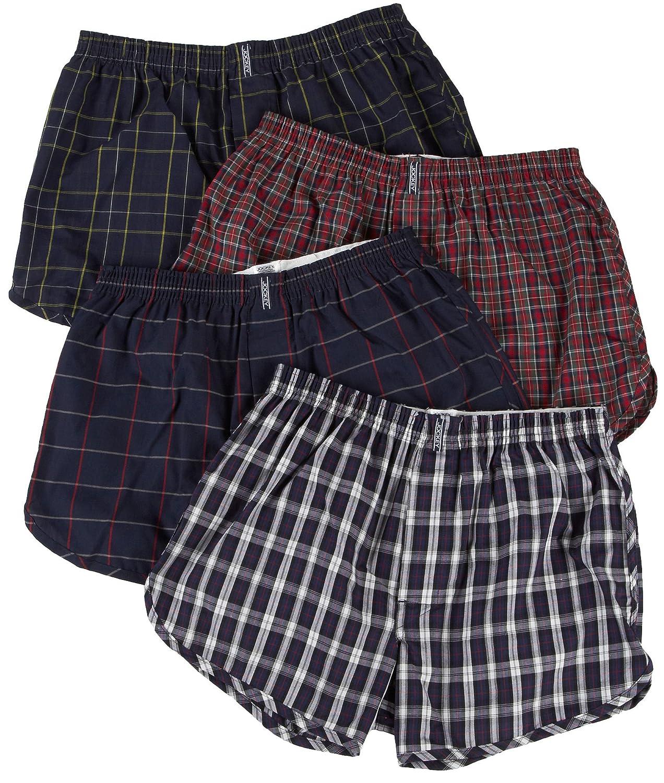 0194b5af4246 Jockey Men's Underwear Tapered Boxer - 4 Pack, tartan, M: Amazon.co.uk:  Clothing
