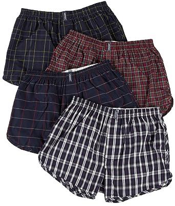 ec619c69f85f Jockey Men's Underwear Tapered Boxer - 4 Pack, tartan, M: Amazon.co ...