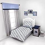 Bacati Elephants Blue/Grey Toddler 3 Piece Bedding