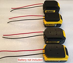 4x 18v battery adapter for DeWALT 20V max batteries dock power connector 12 gauge wire robotics