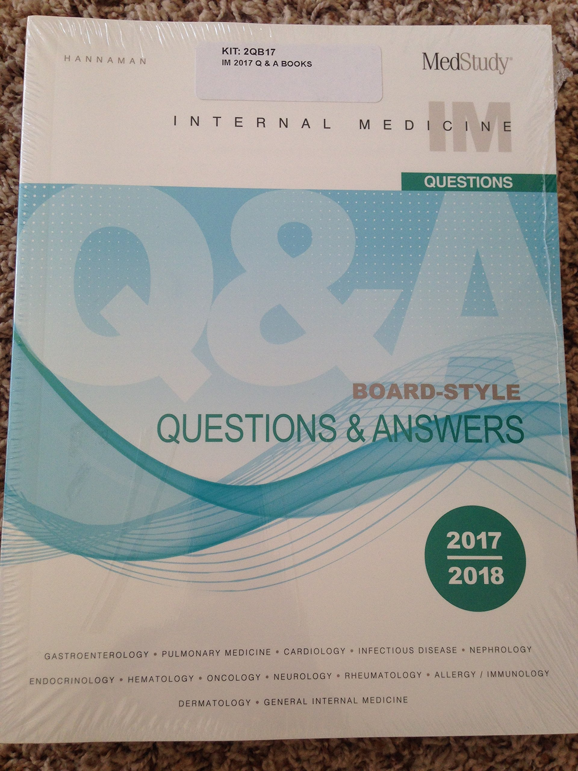 Read Online Medstudy 17th edition 2017-2018 Internal Medicine Board-Style Questions & Answers ebook