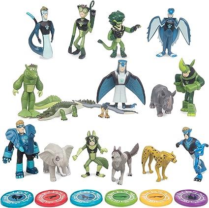 Wild Kratts Toys 22 Piece Collector Action Figure Set Figures Discs