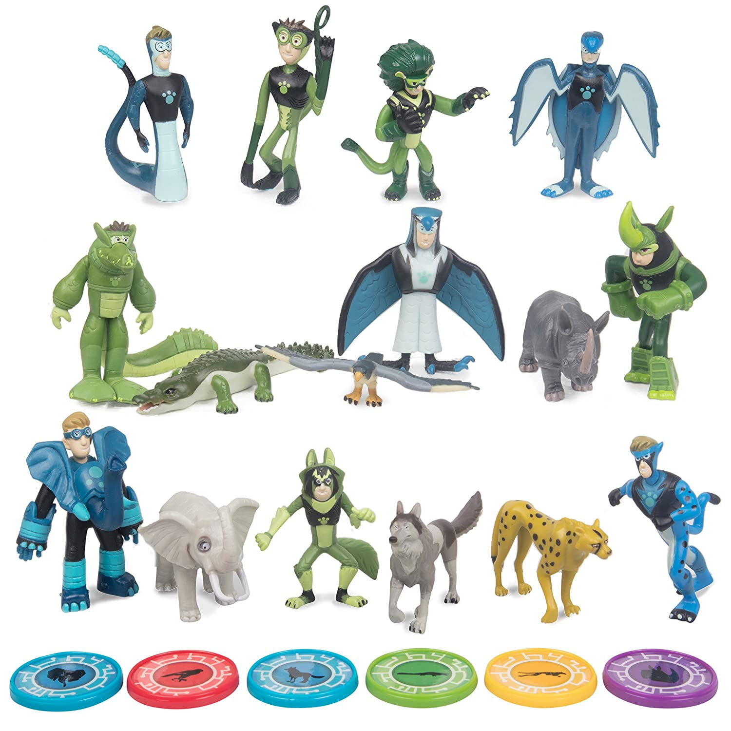 Wild Kratts Toys 22 Piece Collector Action Figure Set - Figures and Discs Wicked Cool Toys