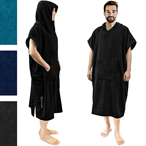 940ddcab4d1095 Amazon.com : SUN CUBE Surf Poncho Changing Robe with Hood   Quick ...