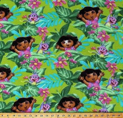 "DORA THE EXPLORER FLOWERS MULTI-COLOR  Fleece Blanket Throw BRAND NEW 40/"" x 50/"""