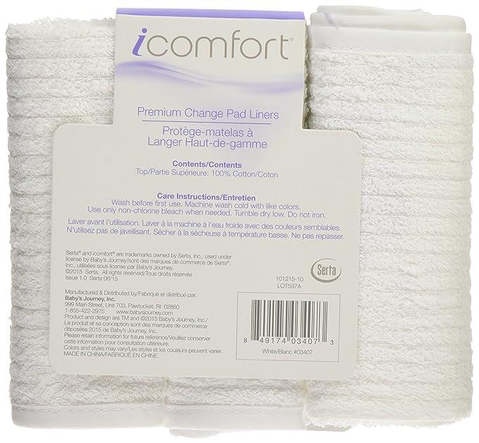 Amazon.com: Serta icomfort Premium Cambio Liners, Blanco: Baby