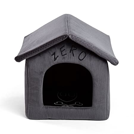 Disney Nightmare Before Christmas Zero Portable Pet House Dog Bed Cat Bed with Detachable Top, Embroidery, Machine Washable, Dirt Water Resistant Bottom Available in two sizes