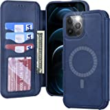 Arae Compatible with iPhone 12 Pro Max Case Wallet [Magnetic Wireless Charge] with Card Holder [RFID Blocking] for iPhone 12