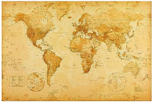 67 opinioni per 1art1, 42429, Poster, motivo: Planisfero storico (Lingua inglese), 91 x 61 cm