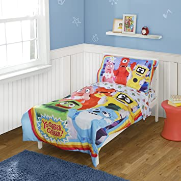 amazon com yo gabba gabba toddler bedding set discontinued by