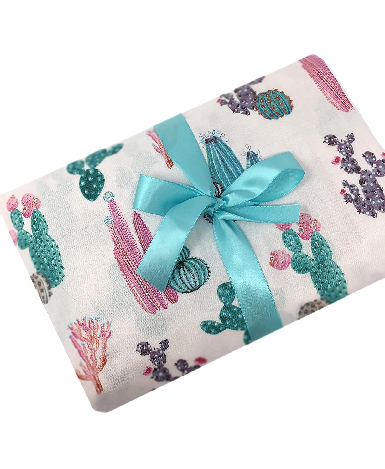 Cactus floral fitted crib sheet handmade in USA