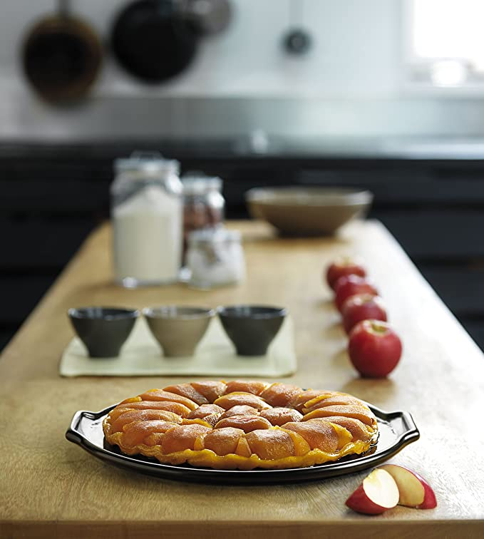 1.2 qt, Emile Henry 606024 Deep Flan Mediterranean Blue Quiche Dish