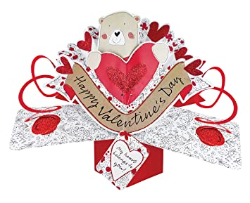 Second Nature Pop Ups Valentine S Day Pop Up Card With A Bear