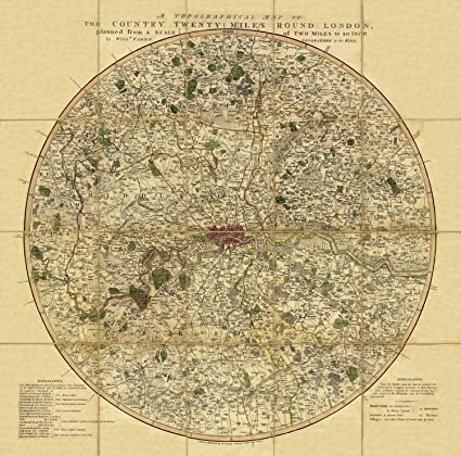 Map Of Uk 1800.Old Maps Vintage Of London A Topographical Map Of The Country