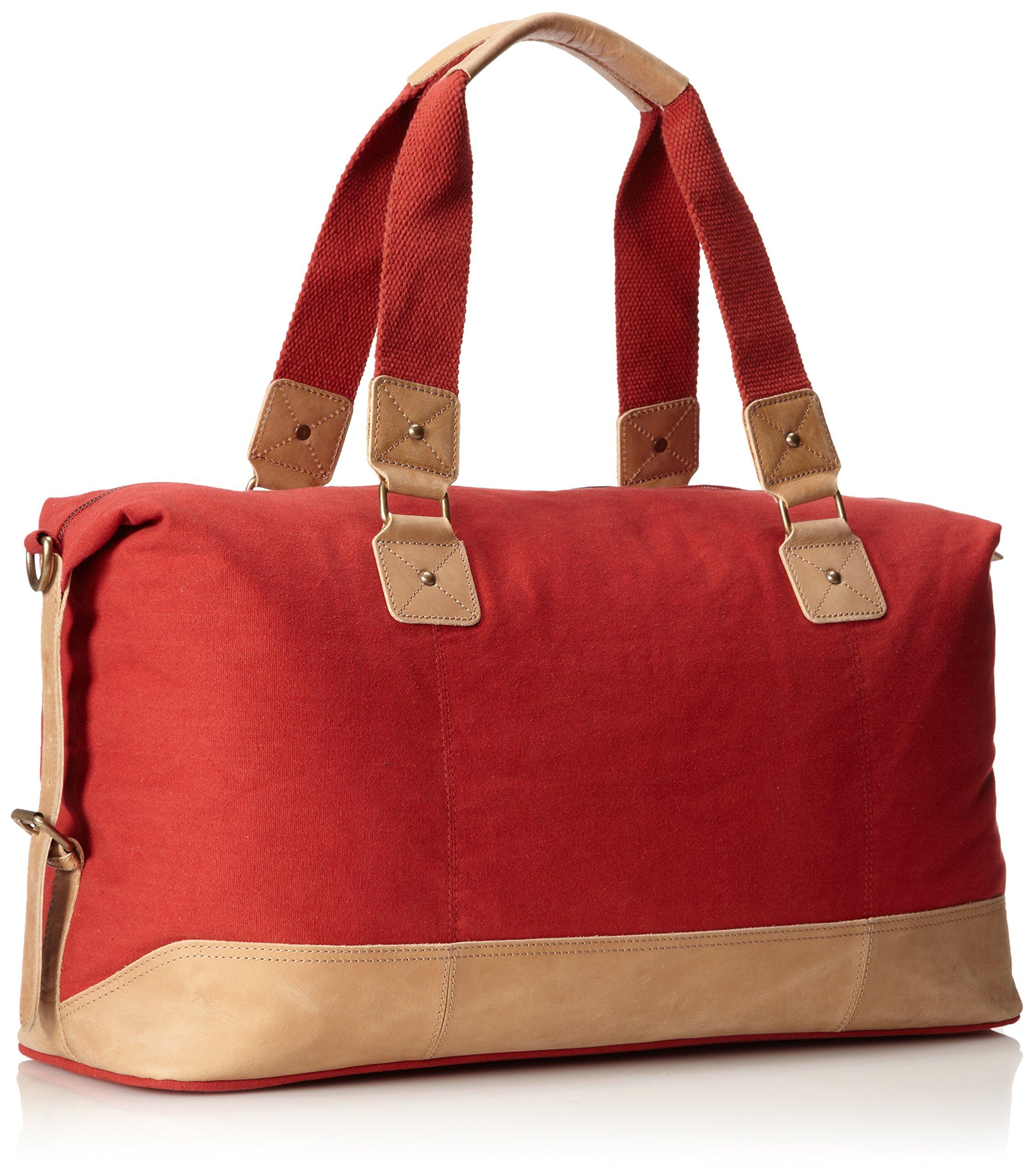 Original Penguin Men's Canvas Weekend Bag Duffel Bag, Pompeian Red, One Size by Original Penguin (Image #2)