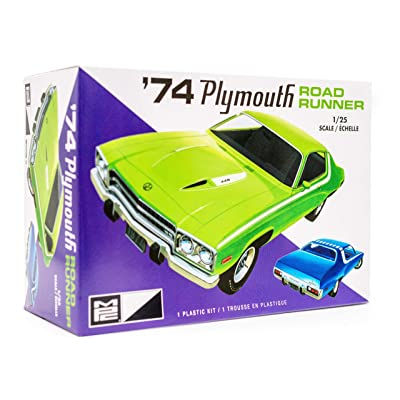 MPC 1974 Plymouth Road Runner - 1/25 Scale Model Car Kit - Buildable Vintage Vehicles for Kids and Adults: Toys & Games