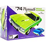 MPC 1974 Plymouth Road Runner - 1/25 Scale Model Car Kit - Buildable Vintage Vehicles for Kids and Adults