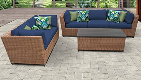 TKC Laguna - Juego de 6 sofás de mimbre para patio, color ...
