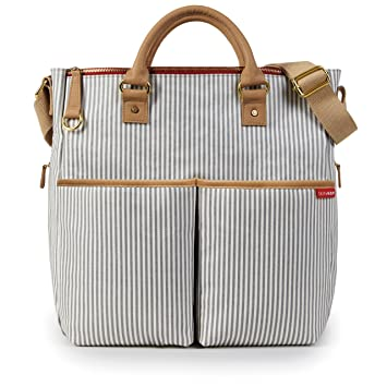 3f2a5987ef222f Amazon.com : Skip Hop Messenger Diaper Bag with Matching Changing Pad, Duo  Signature, French Stripe : Diaper Tote Bags : Baby