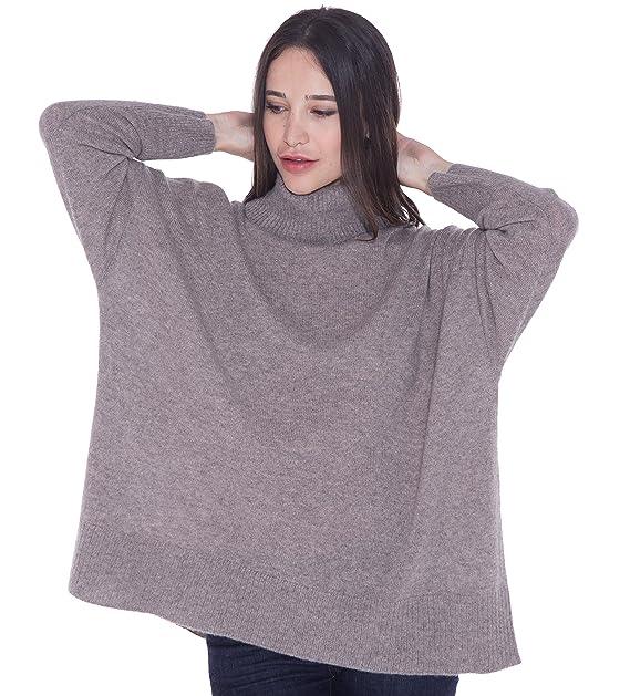 buy online f7fb4 be302 cashmere 4 U Jumper Pullover Dolcevita Oversize 100% Cashmere per Donne