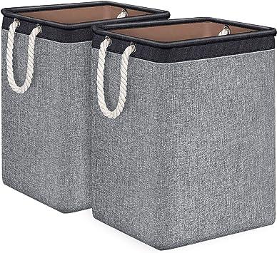 Modern Bamboo Hamper Storage Laundry Basket Durable Washing Cloth Bin Lid Sorter