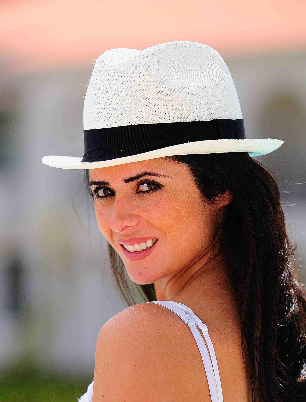 f47495fa8 Gamboa Genuine Unisex Panama Hat Short Brim Gardening Straw Hat Borsalino