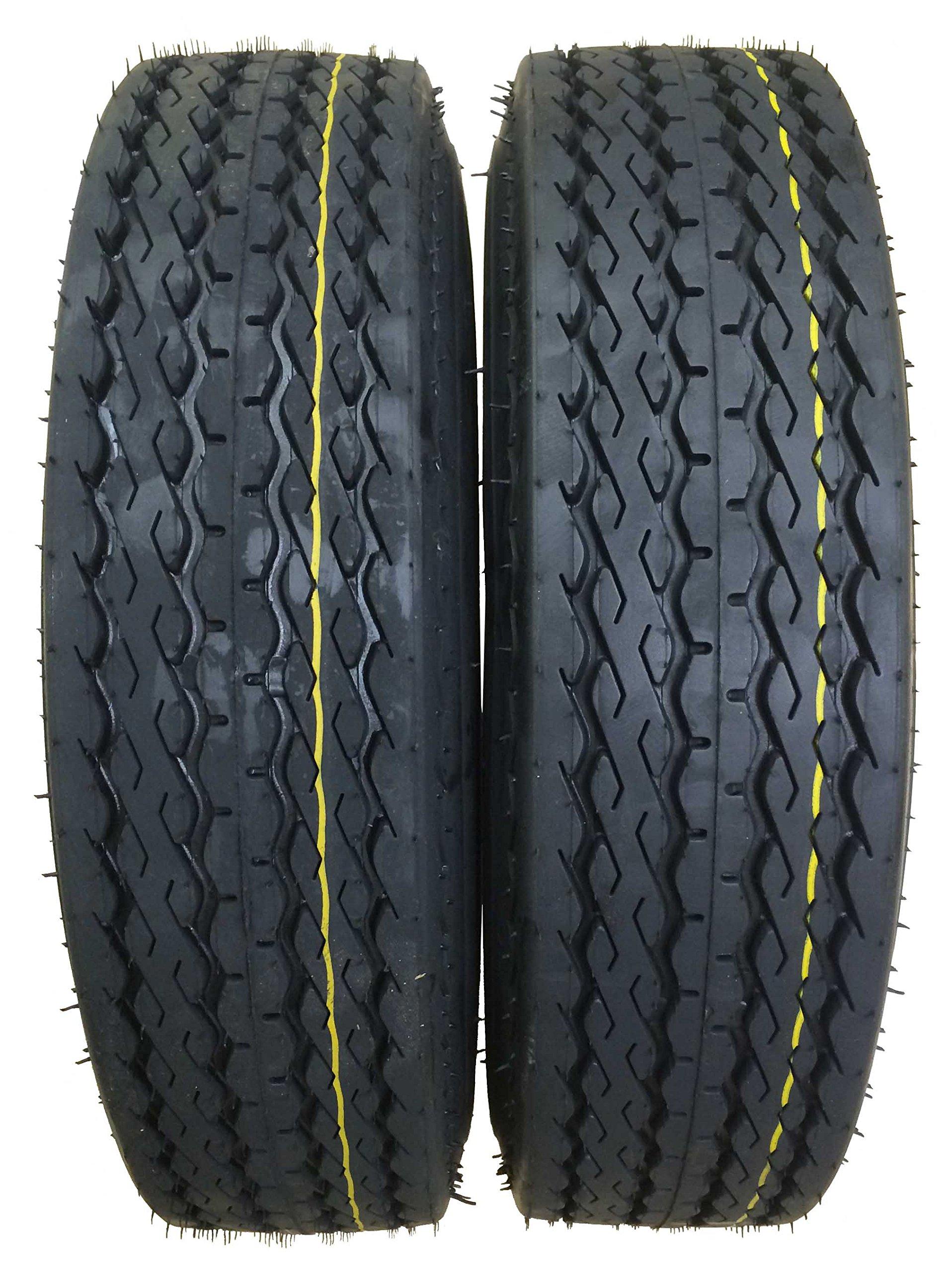 2 New Highway Boat Motorcycle Trailer Tires 5.70-8 6PR Load Range C - 11036