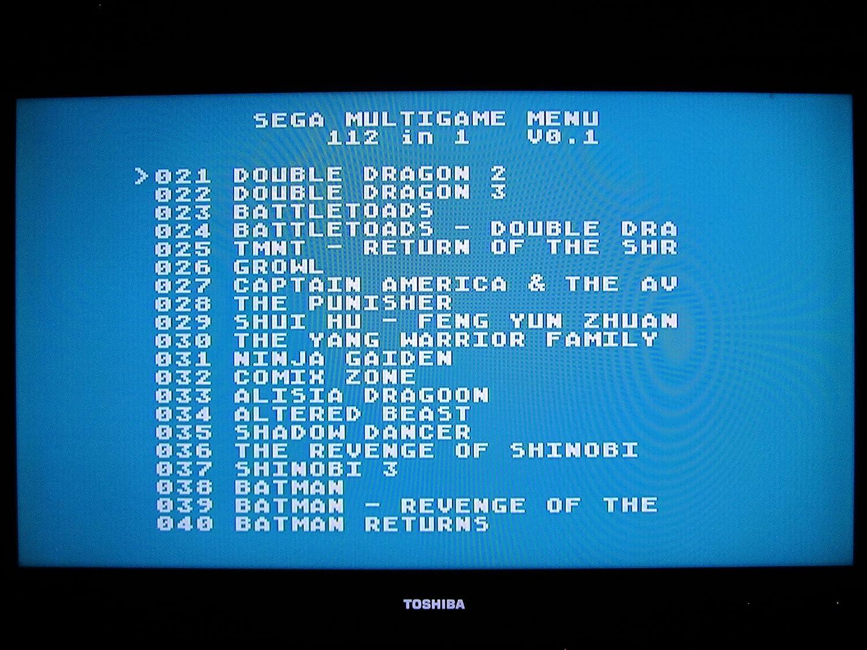 Amazon.com: 112 in 1 Sega Genesis Mega Drive Cartridge - 16-Bit ...