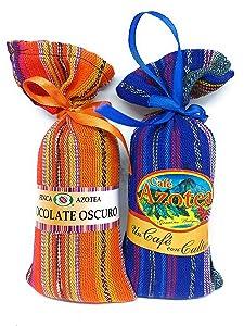 La Azotea Estate, 100% Arabica Gourmet Ground Coffee and Chocolate Powder Sampler Pack - Single Origin, Medium Roast, Antigua, Guatemala - Includes Two 5oz Bags of Each - Great Gift Set