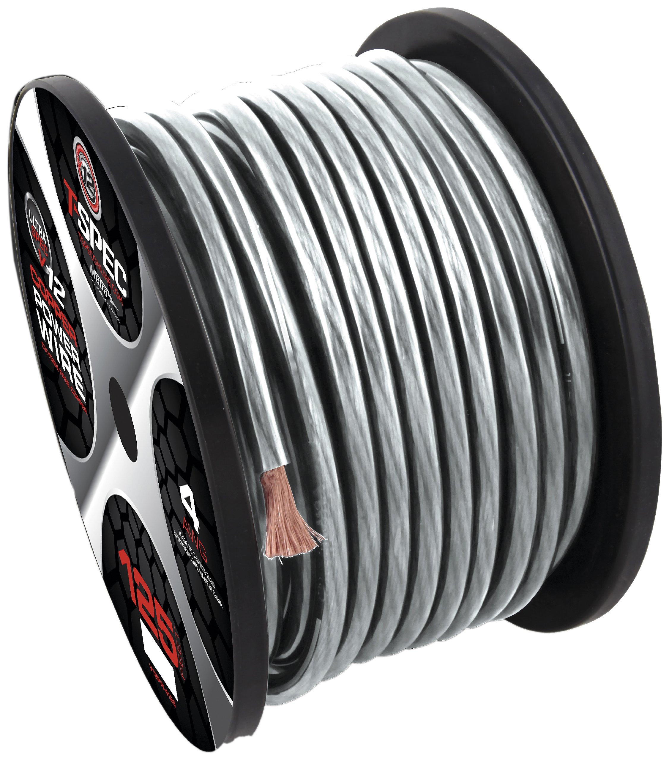 T-Spec V12PW-4125 V12 Series Power Wire Spools 4 AWG, 125-Feet by T-Spec (Image #1)