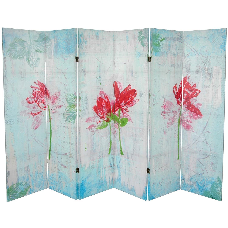 Oriental Möbel Spring Morning Leinwand Raumteiler, 5–1/4-feet