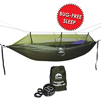 mosquito   outdoor hammock alpine grand lightweight parachute fabric double hammock for indoor amazon    mosquito   outdoor hammock alpine grand      rh   amazon