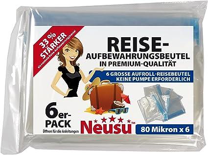 6 Neusu Roll-up bolsa de viaje pequeño; Ideal para equipaje de mano y
