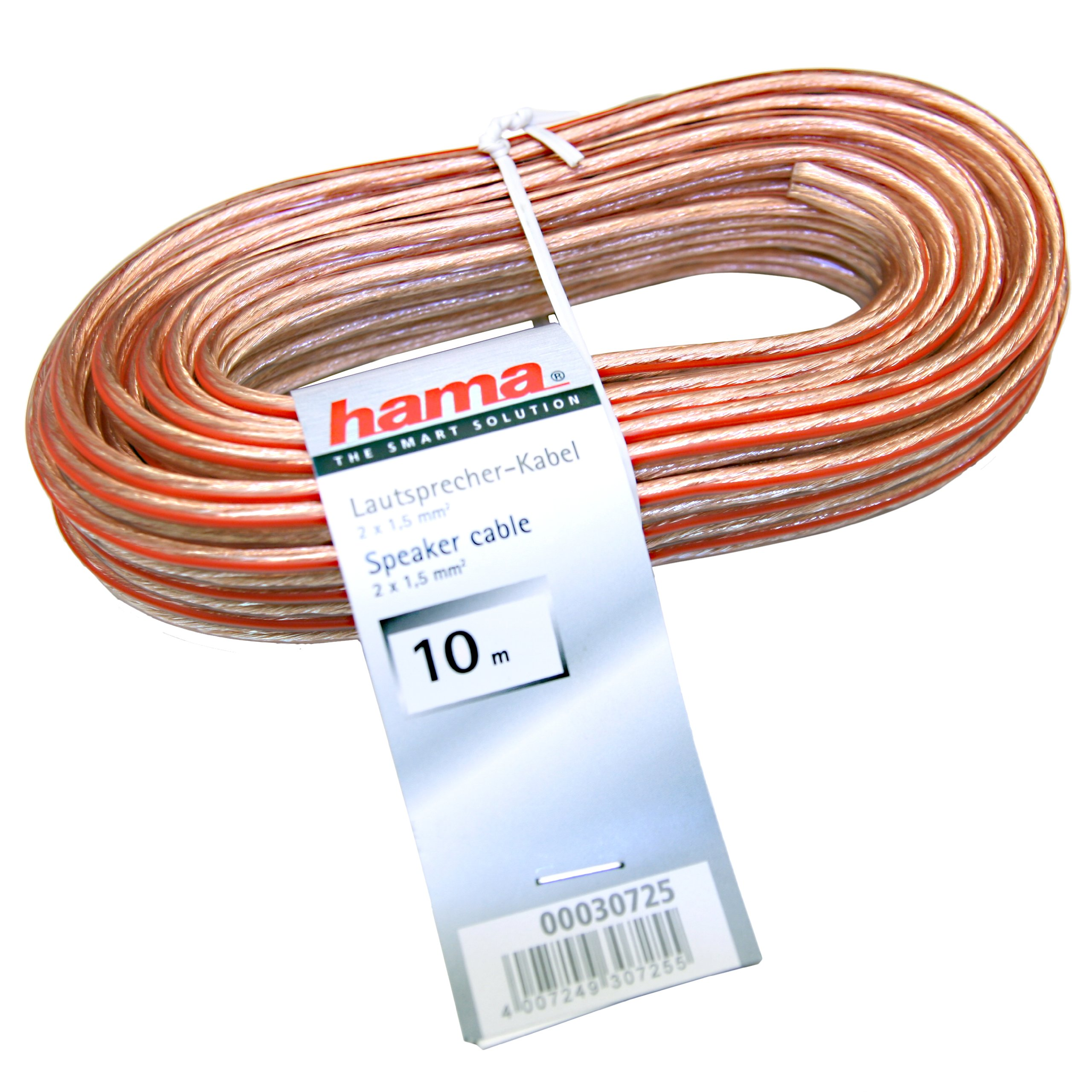 Hama 030725 - Cable de altavoces 2x1,5 mm, 10 m product image