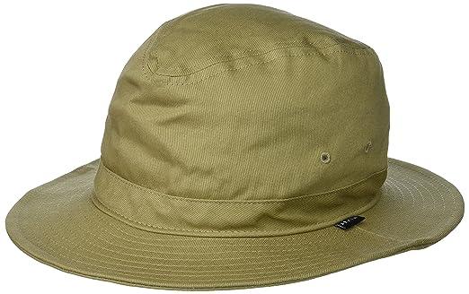 024e4425e6efc Brixton Men s Ronson Quilted Short Brim Cotton Fedora Hat  Amazon ...