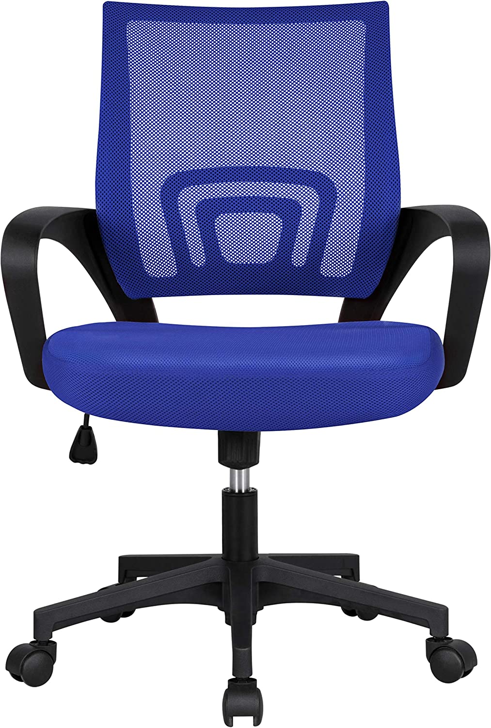 YAHEETECH Home Office Adjustable Mesh Chair, Ergonomic Computer Chair with Lumbar Support for Meeting Room, Bedroom Blue