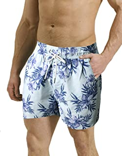 3296b912f0 Threadbare Mens Swimming Board Shorts Swim Trunks Beach Summer Mesh Lined  Swimwear Floral