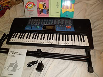 53ef6ef7df8 Amazon.com  Casio Electric Keyboard With Stand And Song Books CTK ...