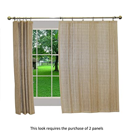 bamboo window panels bamboo curtain bamboo ring top curtain brp05 window panel 40 by 63inch driftwood amazoncom 63