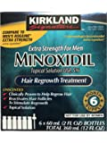 Kirkland Minoxidil 5% Extra Strength Hair Regrowth For Men, 6 Month Supply, 2 Ounce Bottle, 6 Count