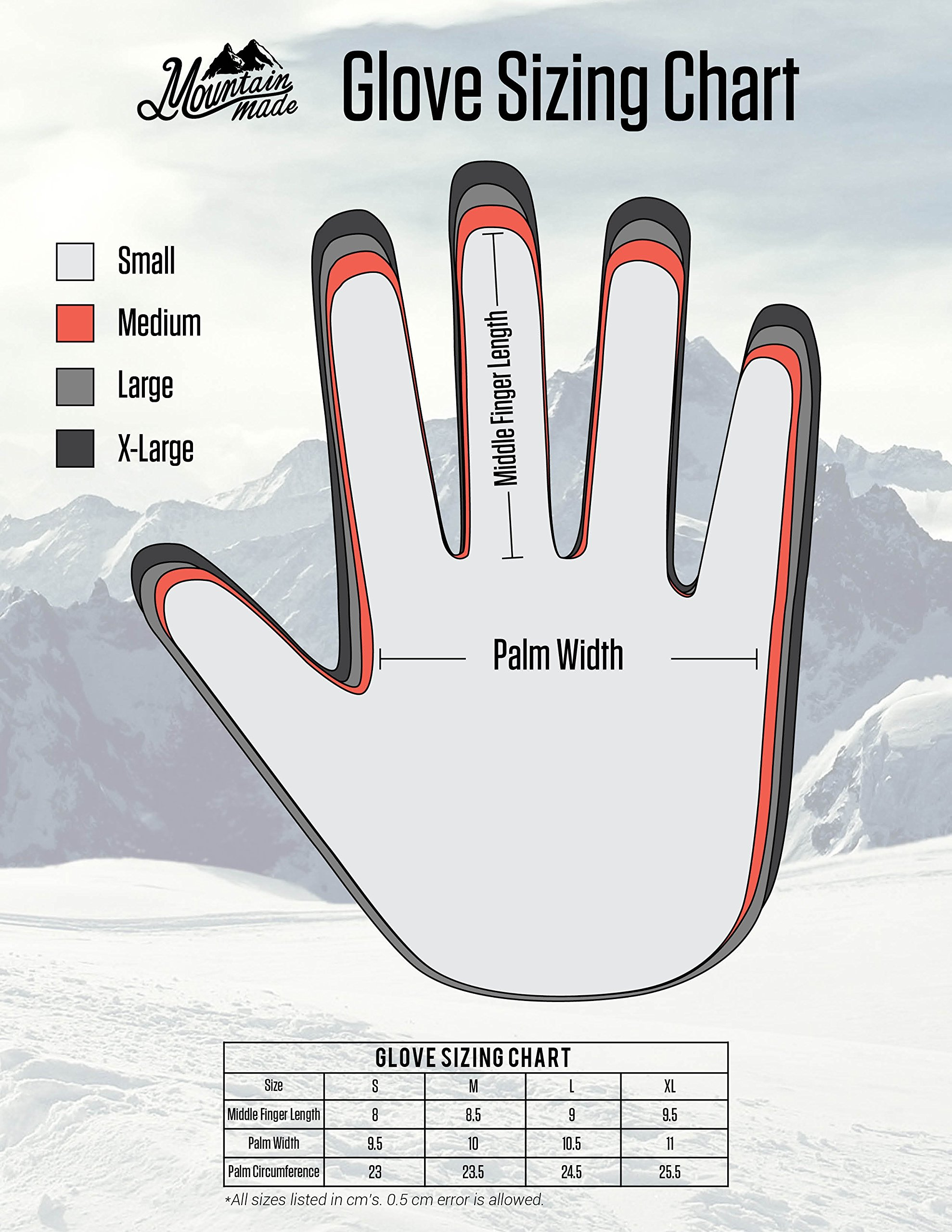 Mountain Made Cold Weather Genesis Gloves for Men & Women, Medium, Black by Mountain Made (Image #8)