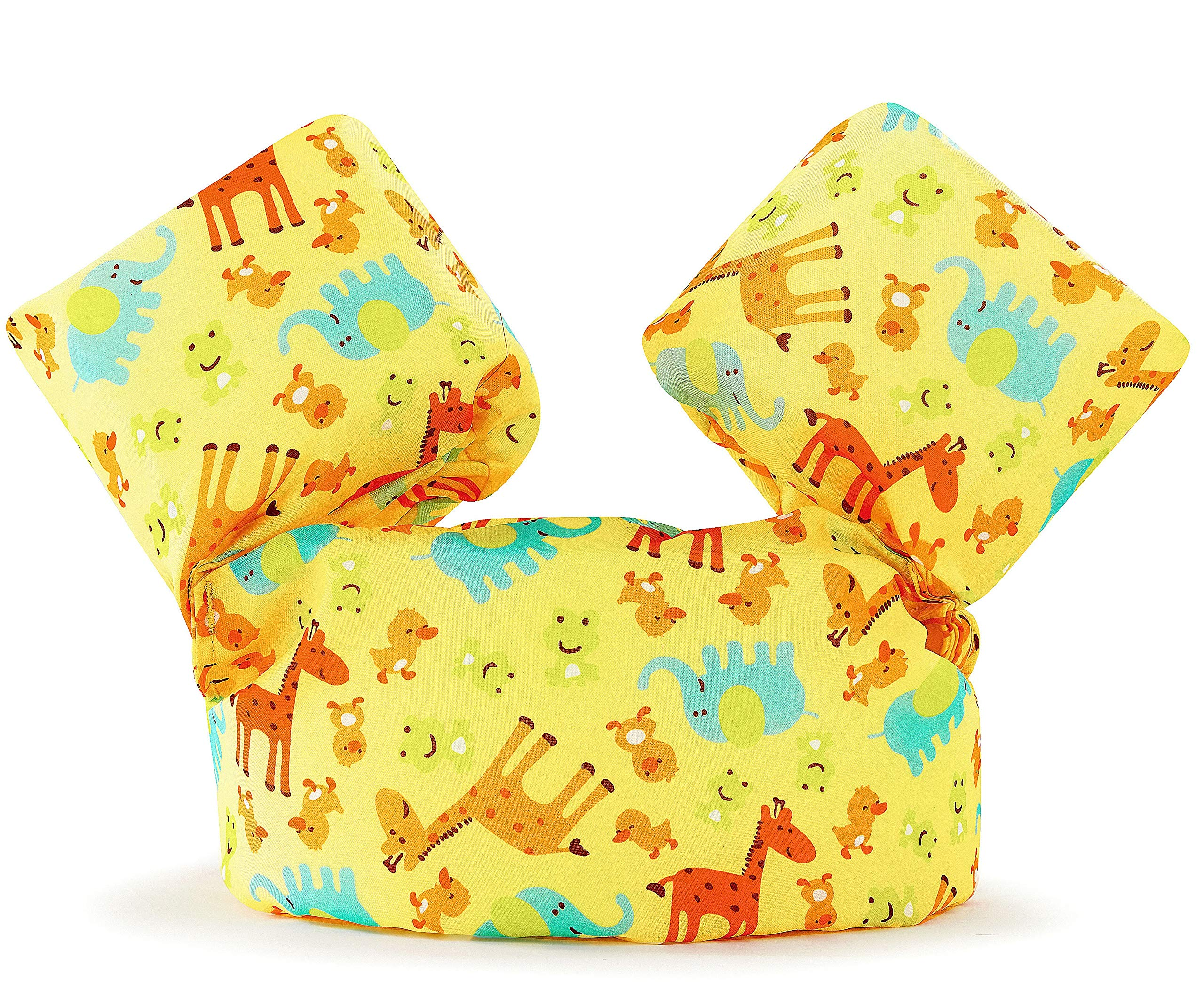 Siran Life Jacket Swim Floaties Kids Swimming Pool Toys Float Vest for Baby/Infant/Toddler 30-50lbs Kids Outdoor Recreation Yellow Giraffe