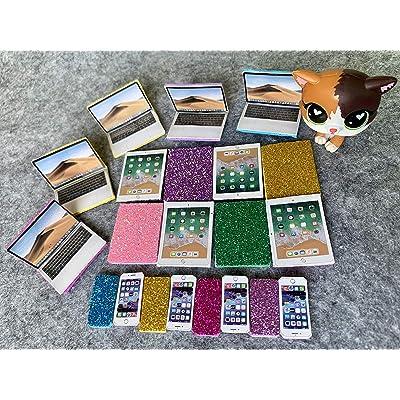 lps Pet Shop lps Accessories Cellphone Computer Tablet 3pc Random fot lps Rare Figures Kids Git (Cat not Included): Toys & Games