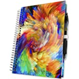 Planner 2018 5x8 Calendar Year - Hardcover w Tabs - First Ever Planner with a Daily Weekly Monthly Yearly Goals Planning System - Spiral | Color Pages | Pen Loop | Dated Calendar Year by Tools4Wisdom