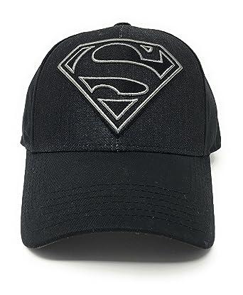 c83c0103b6d CONCEPT ONE Superman Men s - Black Denim Logo Over Twill Patch Snapback O S  Black