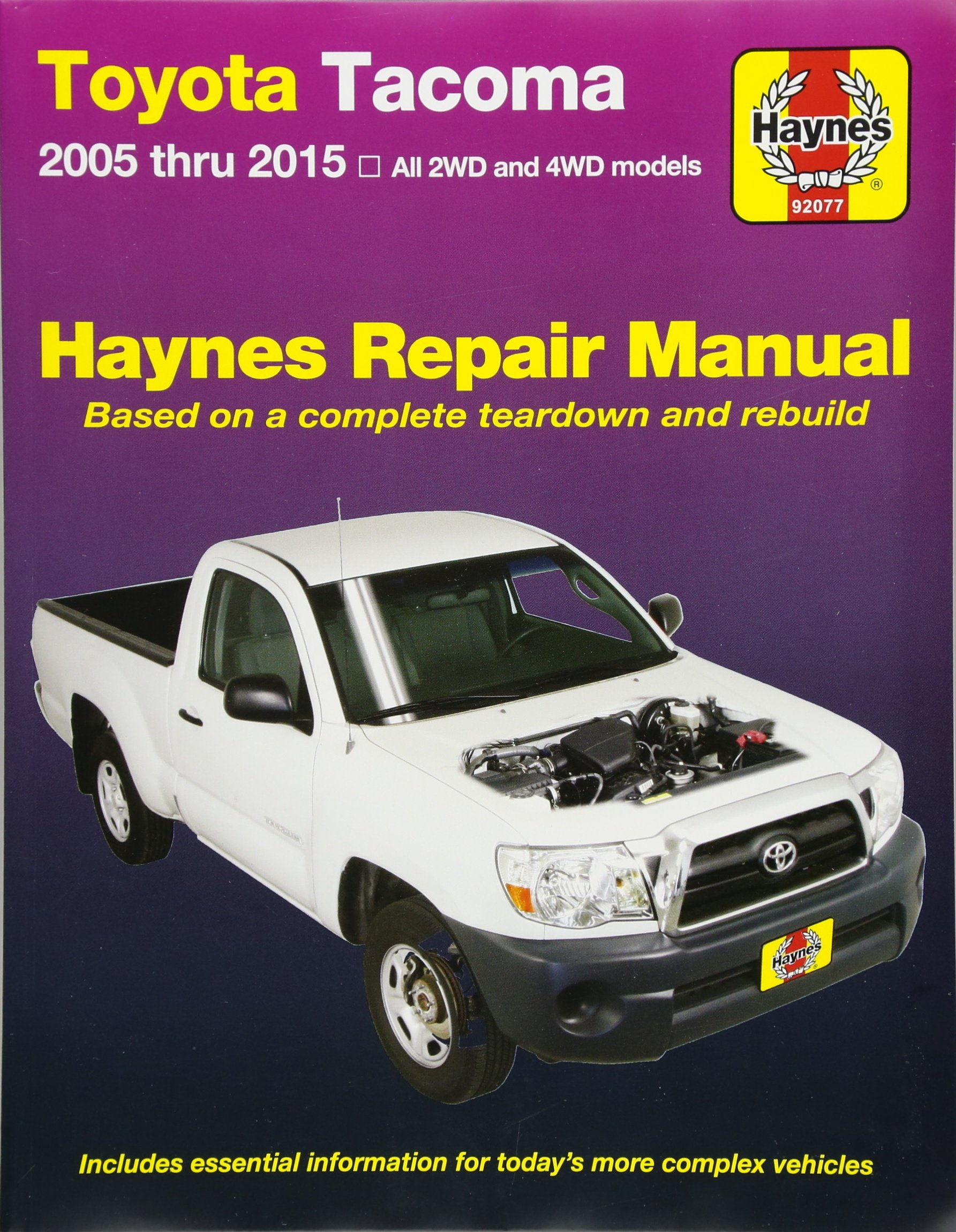 Toyota Tacoma: 2005 thru 2015 All 2WD and 4WD models (Haynes Repair Manual):  Editors of Haynes Manuals: 0038345920776: Amazon.com: Books
